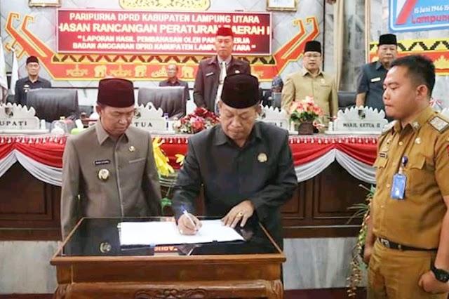 DPRD Kab.Lampung Utara Menggelar Rapat Paripurna Pembahasan Raperda Tentang Pertanggungjawaban Pelaksanaan APBD Tahun Anggaran 2018