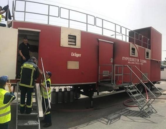 """Θεσπρωτία: Οι πυροσβέστες Θεσπρωτίας εκπαιδεύτηκαν στον προσομοιωτή πυρκαγιάς """"Fire Dragon"""""""