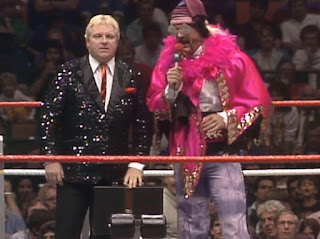WWE / WWF Saturday Night's Main Event 2 - Jesse Ventura interviews Bobby Heenan in the ring