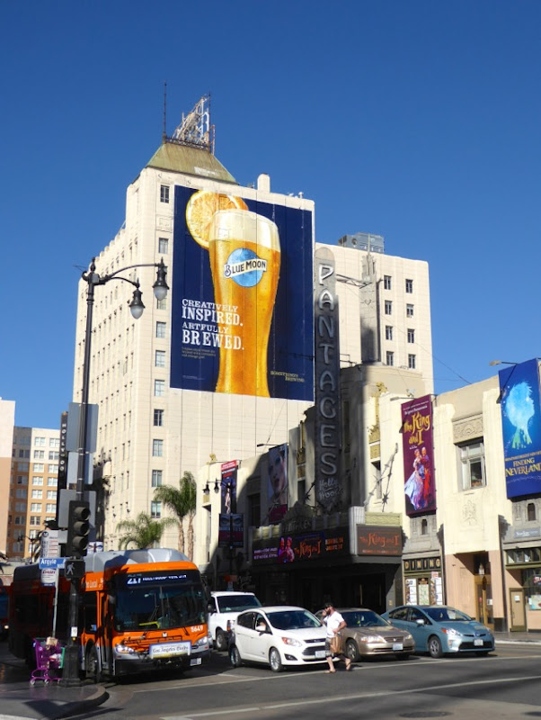 Giant Blue Moon beer billboard Hollywood