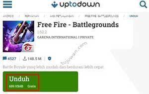 Di google play store update FF terbaru