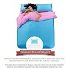 Sprei Polos Glamoure Home Blue and Baby Pink