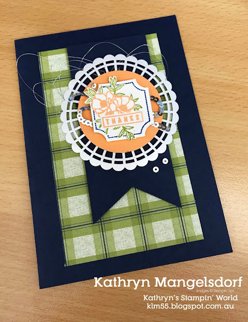 Stampin' Up!  Darling Label Punch Box created by Kathryn Mangelsdorf