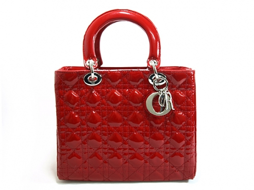Dior Haute Couture S 09 Lady Handbag Signature Red Lipstick