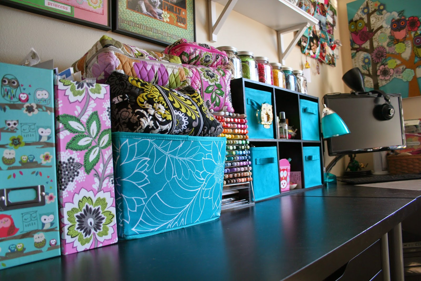 Craft or Scrapbook Room and Space Organization Tour with Tips for Storing Stamps Ink Markers Paper