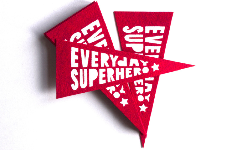 Everyday Superhero Pennant - Alfie's Studio