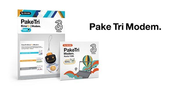 paket internet 3 modem
