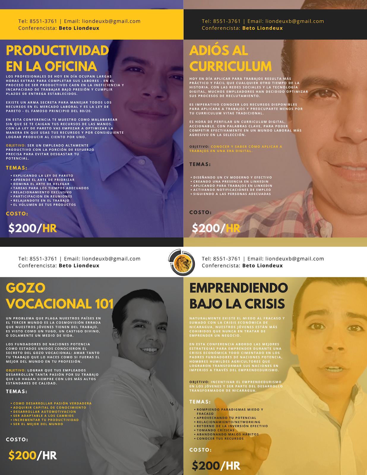 conferencias en nicaragua betolocuencia