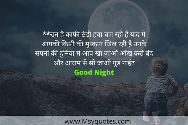 Best Good Night Wishes In Hindi Photos