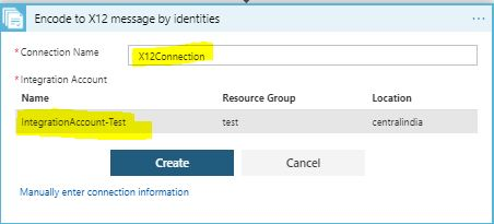 create IA connection