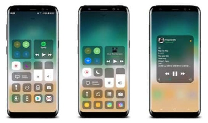 Launcher Android dengan Tampilan ala iOS - Control Center iOS 12
