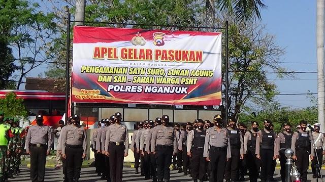 Guna Jaga Keamanan dan Kondusifitas Wilayah Kab.Nganjuk,Polres Nganjuk Gelar Pasukan
