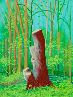 Enlarged Digital painting by Brushes-monopolist David Hockney