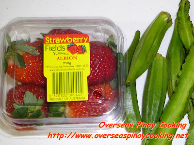 Siningang na Bangus sa Strawberry - Ingredients