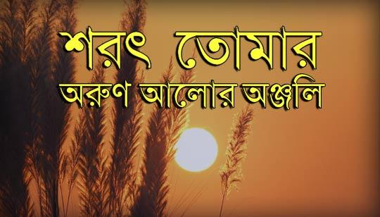 Sharat Tomar Arun Alor Anjali Full Lyrics Song (শরৎ তোমার অরুণ আলোর অঞ্জলি)