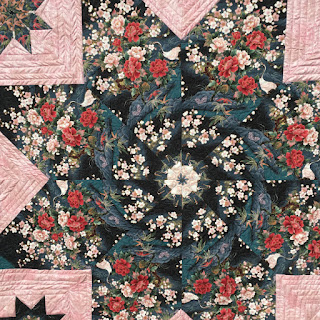 Quilting Gail's Japanese star stack and whack quilt