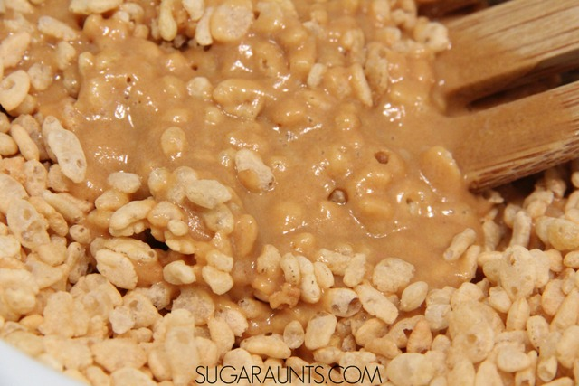 Honey peanut butter rice krispy treats the ot toolbox cooking with kids honey rice krispy cereal treats ccuart Gallery