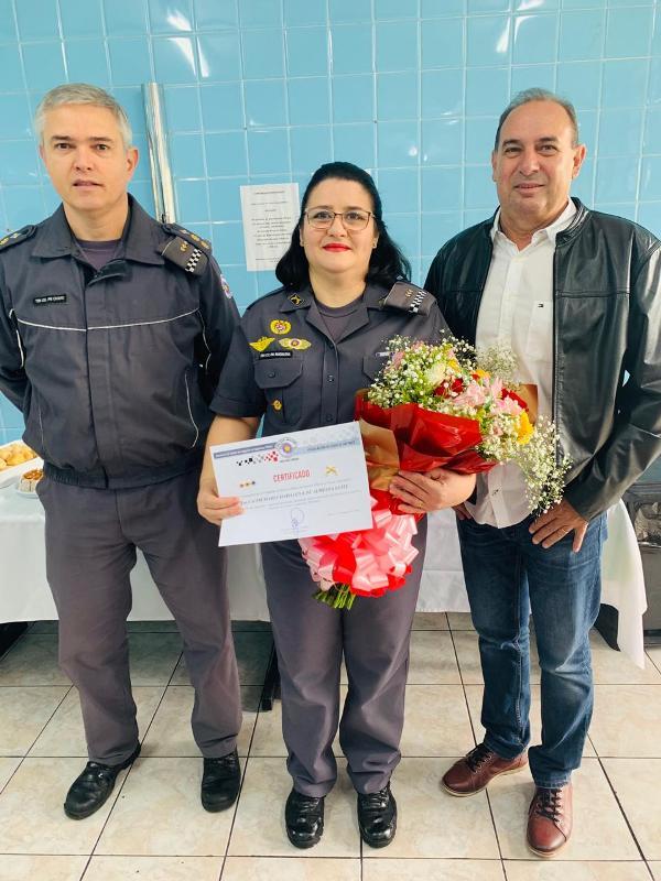 Promoção de Tenente Coronel a Subcomandante do 14 BPM/I a Maria Madalena de Almeida Leite