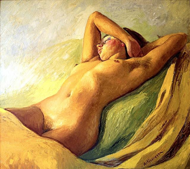 Antonio Sicurezza - Susanna - nudo pittorico femminile