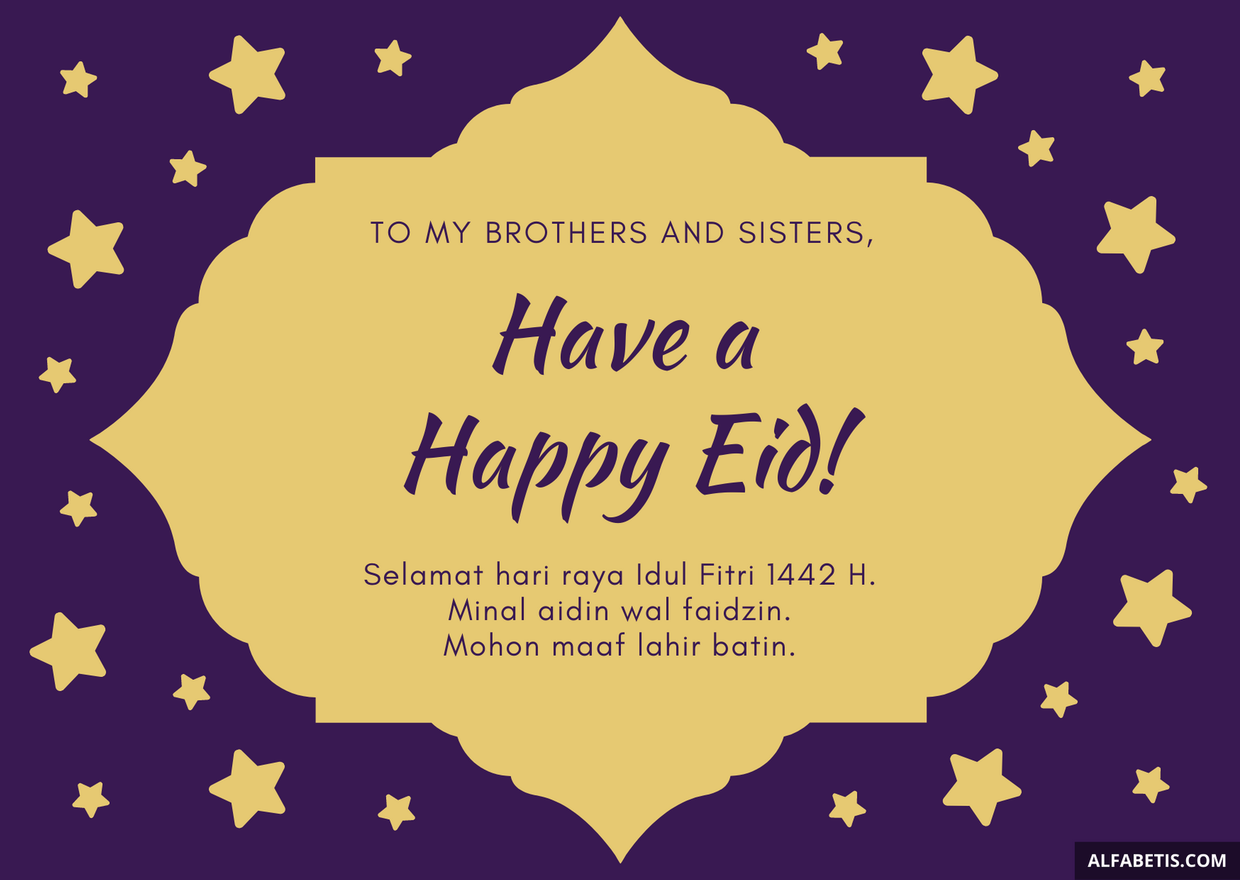 Happy Eid Mubarak Bahasa Indonesia