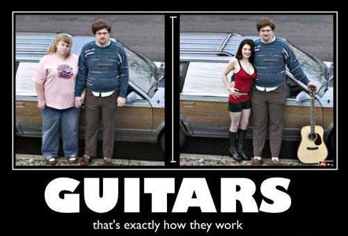 La magia de las guitarras, como ligar con una