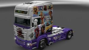 GTA 5 Scania RJL Grand Theft Auto V skin mod