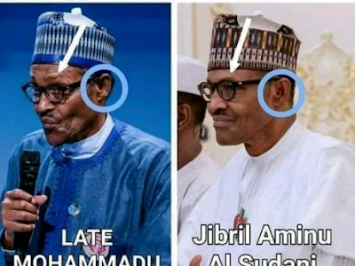 REVEALED: Difference between the dead buhari and the impostor (Jubril)