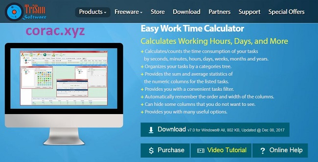 Easy Work Time Calculator Full Key bản quyền
