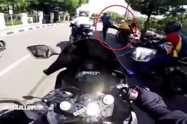 Viral Rombongan Moge Ditendang Saat Terobos Ring 1 Istana, Paspampres: Harusnya Ditembak