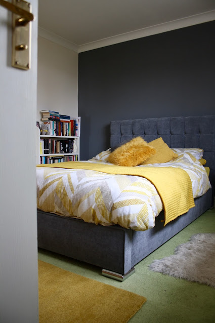 interior design bedroom home bed rug bookcase