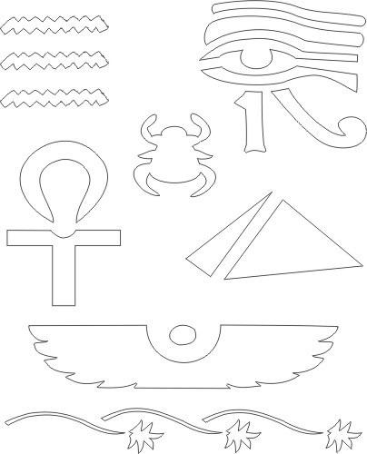 adornos faraon colorear