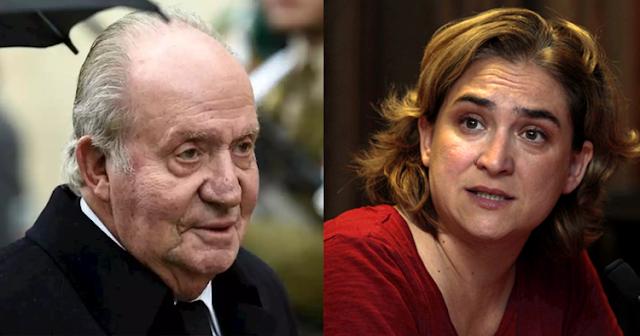 """Ada Colau tacha al rey emérito de corrupto: """"Que devuelvan lo defraudado ya"""""""