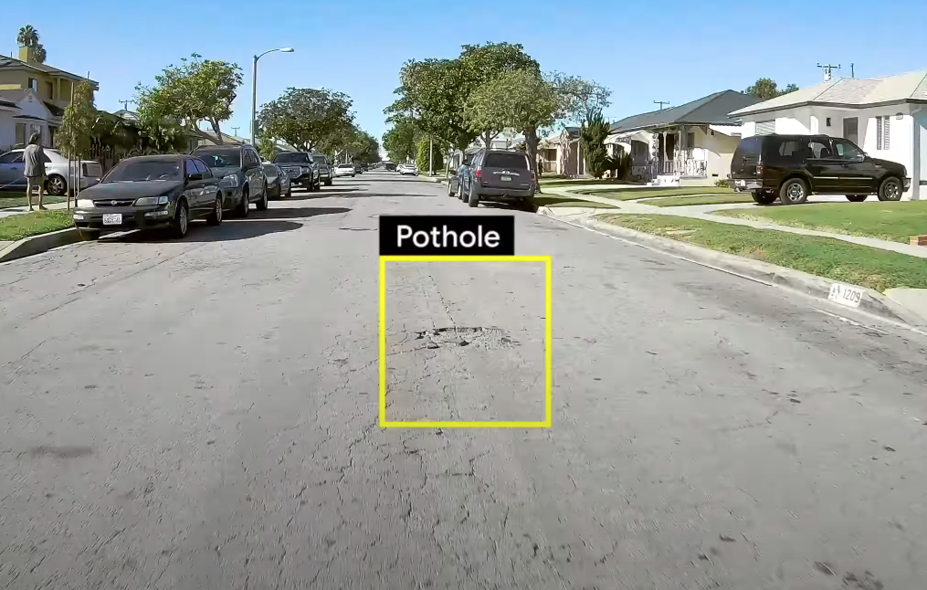Example of object detection on mobile