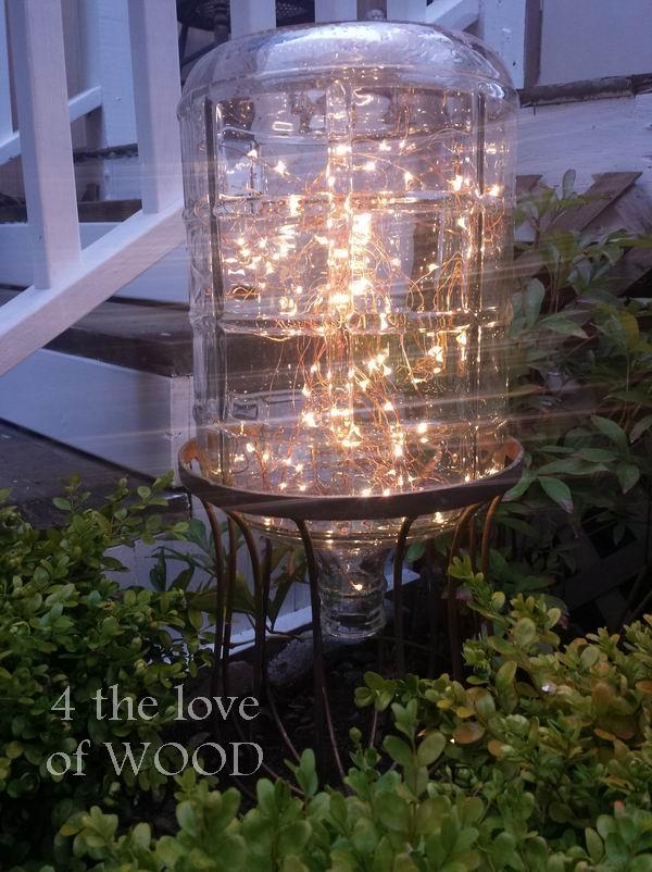 4 the love of wood: DIY GARDEN LIGHT - reusing a large ...