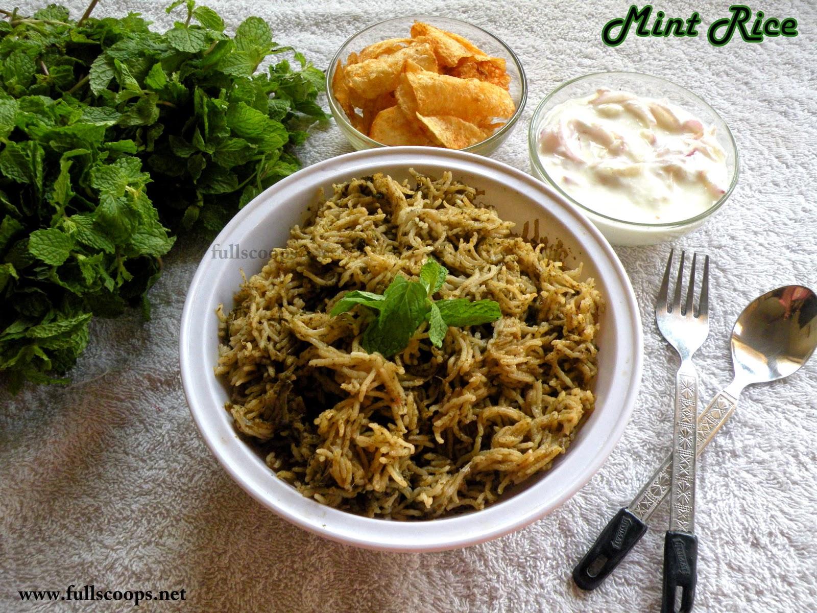 Mint Rice - 2