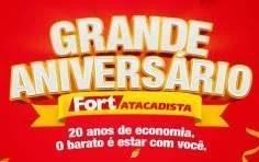 Promoção Fort Atacadista 2019 Aniversário 20 Anos Furacão de Prêmios