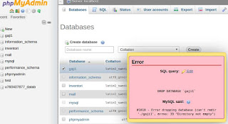 Cara Memperbaiki Error no 39 Error Dropping Database