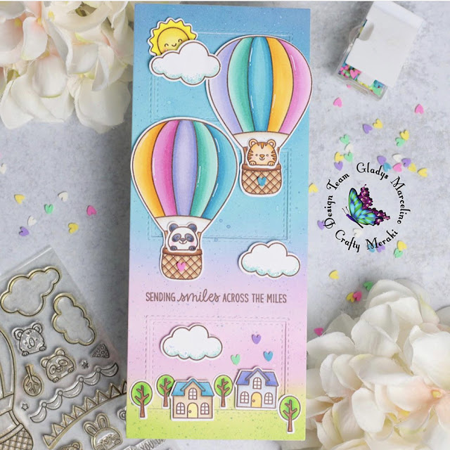 Sunny Studio Stamps: Balloon Rides Customer Card by Gladys