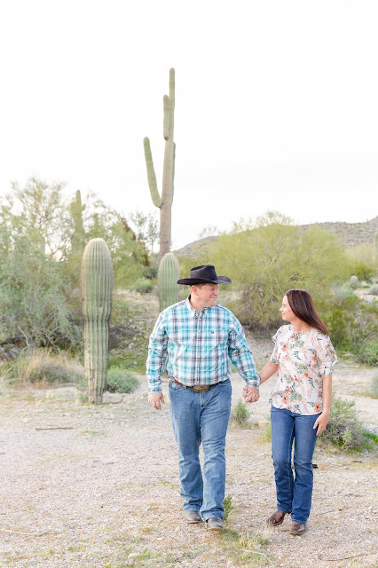 AZ Desert Engagement Session by Micah Carling Photography