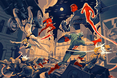 San Diego Comic-Con 2019 Exclusive Golden Age of Marvel Comics Screen Print by Rich Kelly x Mondo