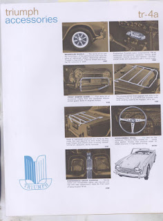 Triumph TR4A USA accessories