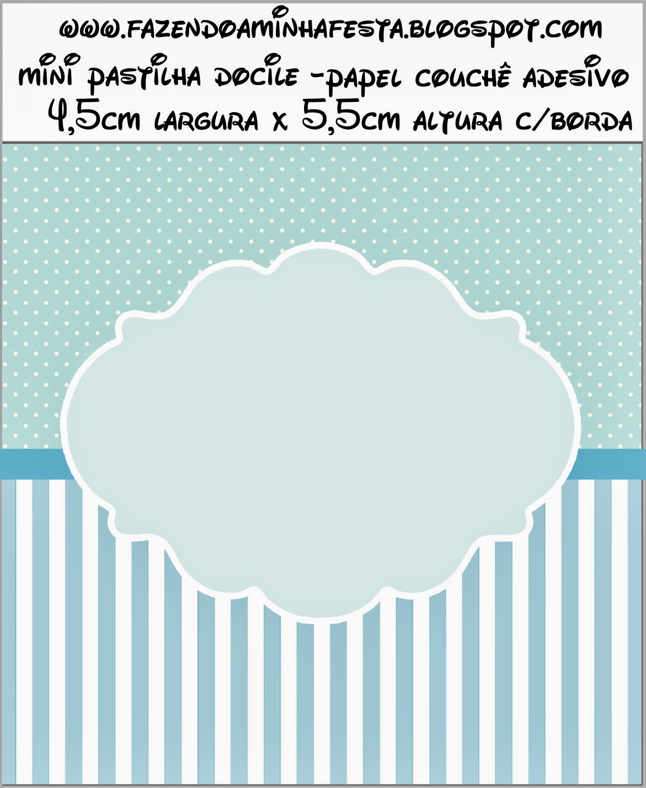 Light Blue and White Stripes and Polka Dots Free Printable ...