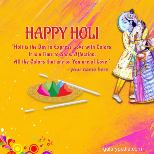 Radha Krishna happy holi wishes
