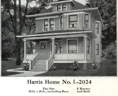black and white photo of Harris homes - 1921- Model No 2024