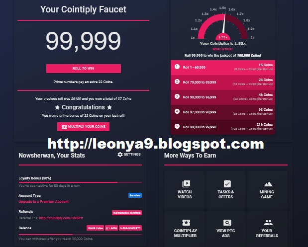 Cointiply, Best Way To Earn Free Bitcoins (Faucet + Mining Game