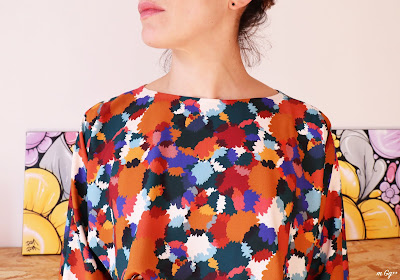 """Une """"Robe Pôpiette"""" en """"Bouquet d'automne""""... (Tissu et Patron de chez Cousette) par m Gg++"""