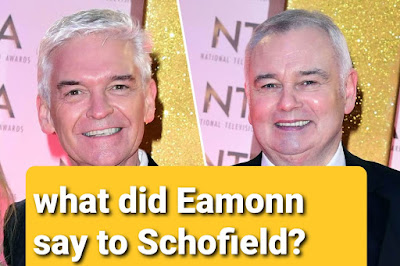 What did Eamonn Holmes say to philip schofield when he came out as gay