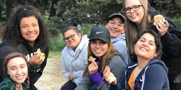 Liberal Studies students at camp