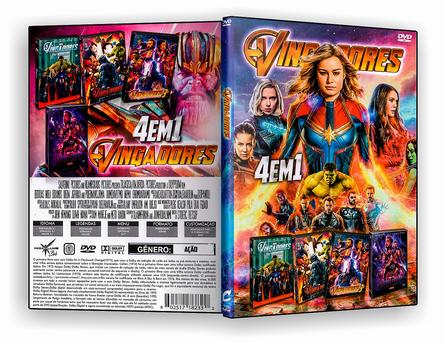 DVD Coleção - Vingadores 4x1 2019 - ISO