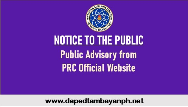 IMPORTANT NOTICE: Public Advisory from PRC